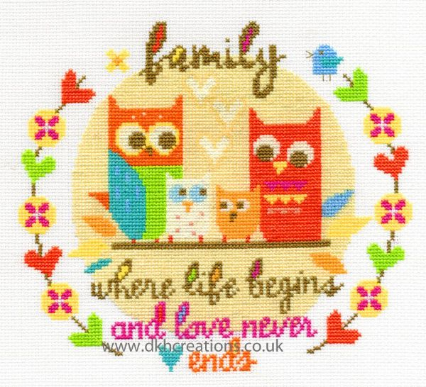 Family Cross Stitch Kit